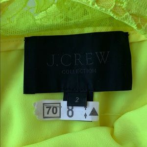J. Crew Dresses - Neon yellow J. Crew lace dress size 2